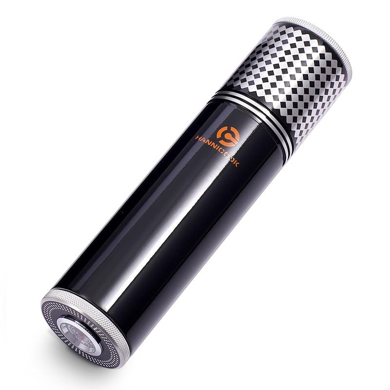 COHIBA Yellow&Black Travel Portable Aluminium Alloy Cigar Jar Tube Humidor W/ Humidifier Hygrometer gadget