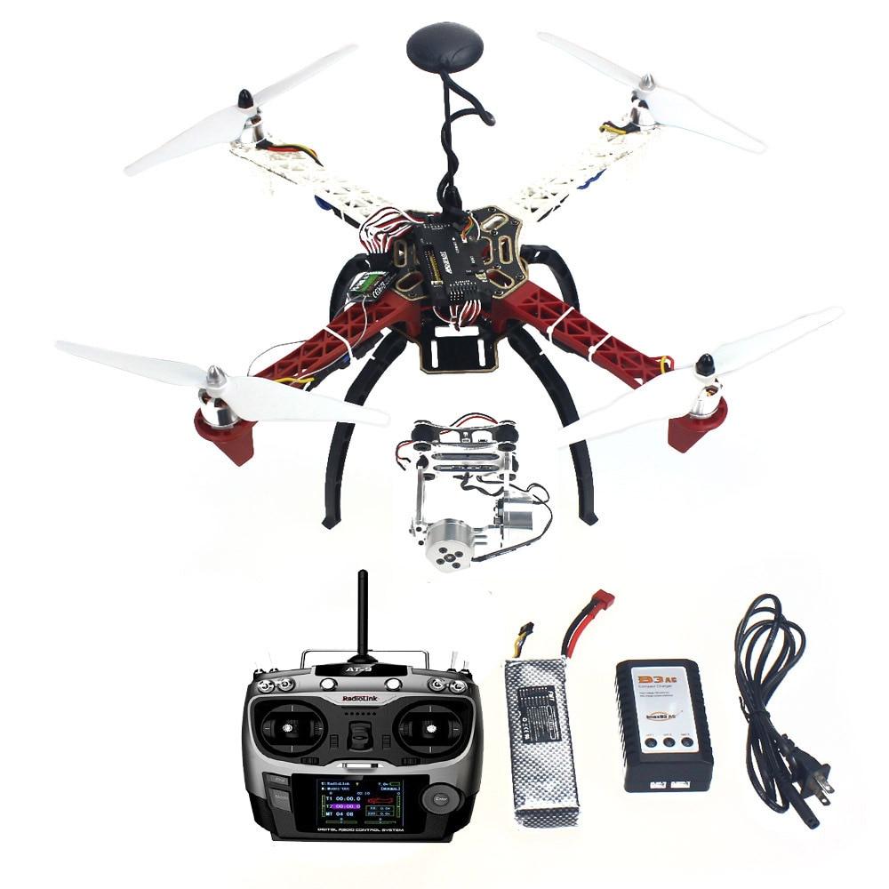 F02192-U Assembled HJ 450 450F 4-Aix RFT Full Kit with APM 2.8 Flight Controller GPS Compass & Gimbal assembled cdrom controller kit with display remote control 0508 4