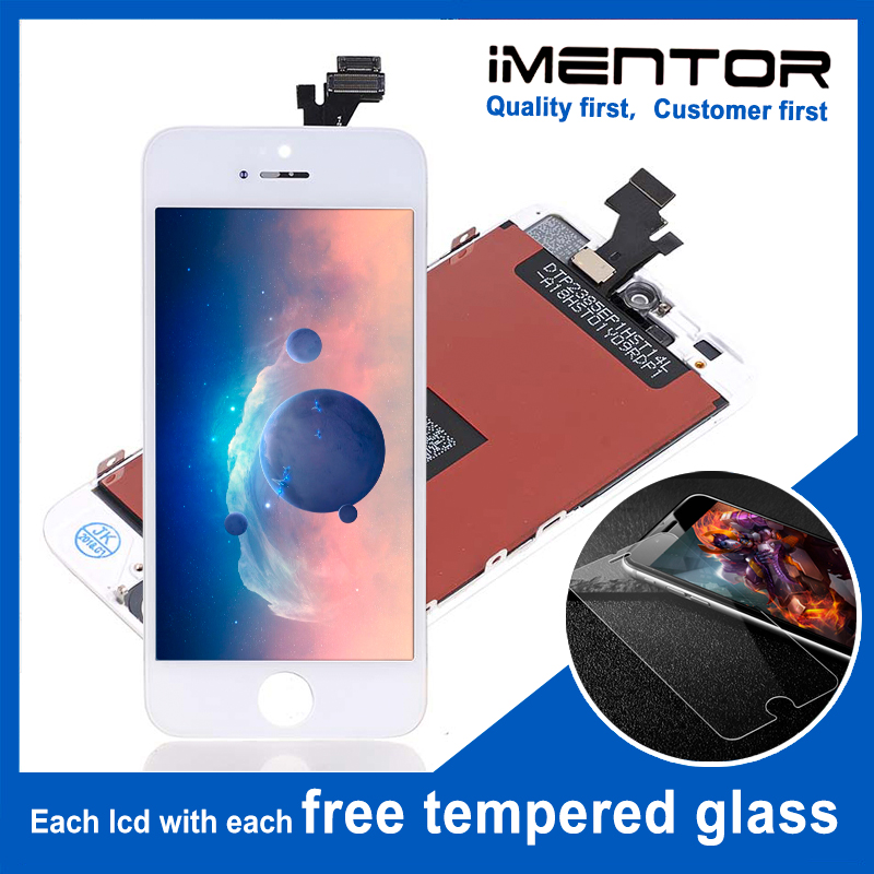 10pcs for AAA iphone 5 lcd display with touch assembly free tempered glass 10pcs
