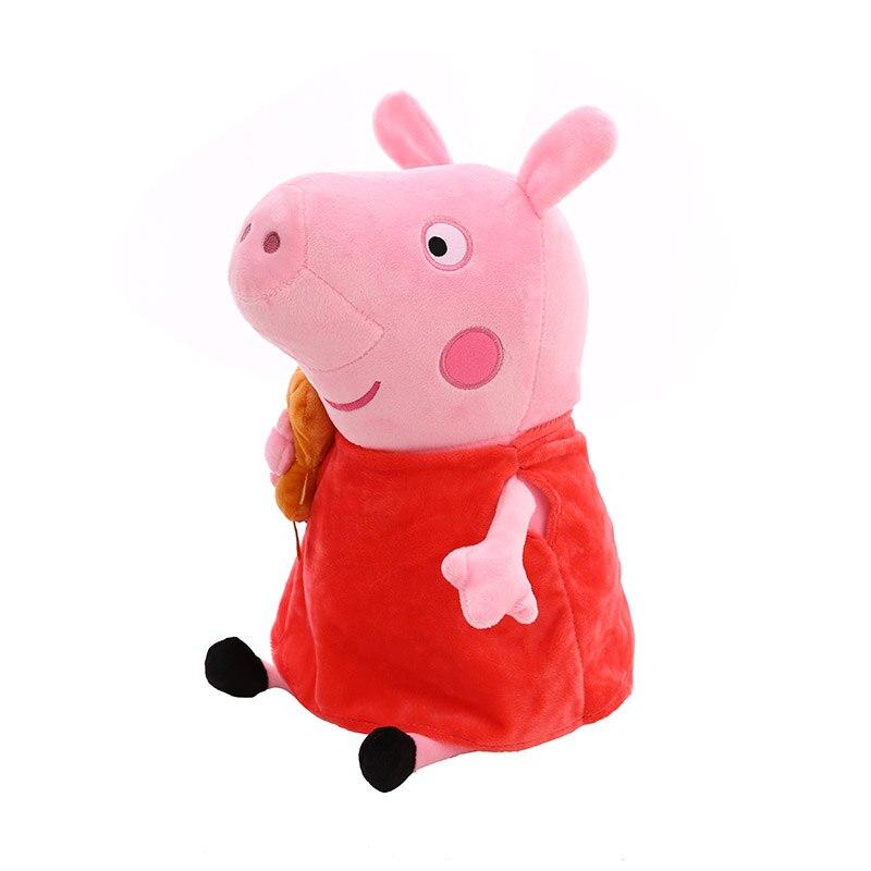 25 CM Peppa Pig Family George Dad Mom Plush Toys Pelucia Stuffed Doll For Children