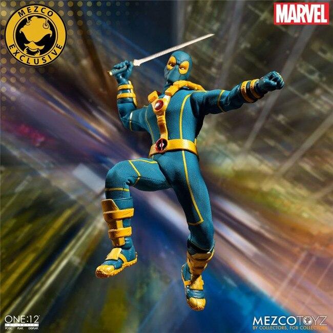 16cm Marvel Mezco Toys Super Hero Deadpool X-Men Red Blue Version One 12  Action Figure   (8)