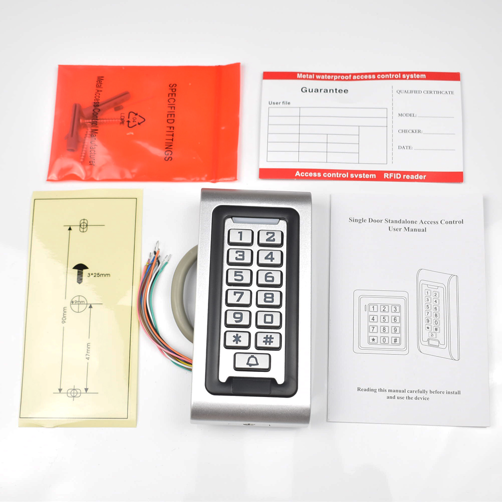 125khz IP68 Keypad RFID Access Control System Proximity Card Standalone 2000 Users Door Access Control Waterproof Metal Case