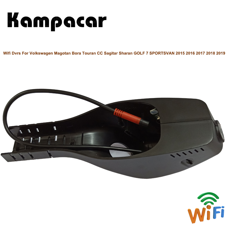 Kampacar Wifi Car Dvr Dash Camera For Volkswagen Magotan Bora Touran CC Sagitar Passat GOLF 7