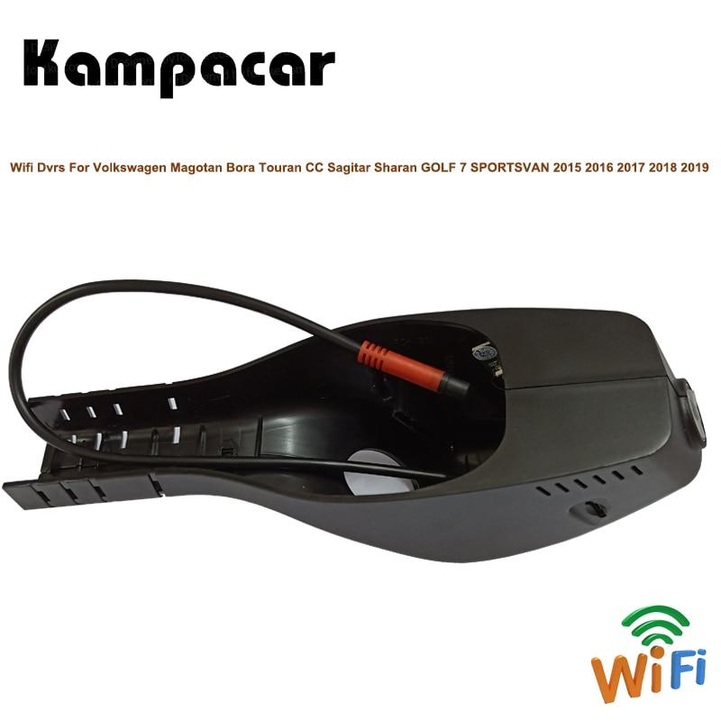 Kampacar Wifi Car Dvr Dash Camera For Volkswagen Magotan Bora Touran CC Sagitar Passat GOLF 7 SPORTSVAN 2015 2016 2017 2018 2019