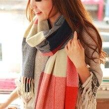 SIMPLESHOW Новинка женский зимний шарф для женщин шарф и шаль теплые женские клетчатые шарфы женская шаль echarpe Прямая поставка