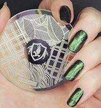Nail Art Stamping Plate Template Eagle Circle Square Wave Stamp Image hehe028