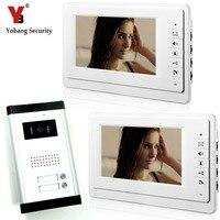 7 Inch Wired Video Door Phone Visual Intercom Doorbell With 1 Indoor Monitor 1 Outdoor Camera