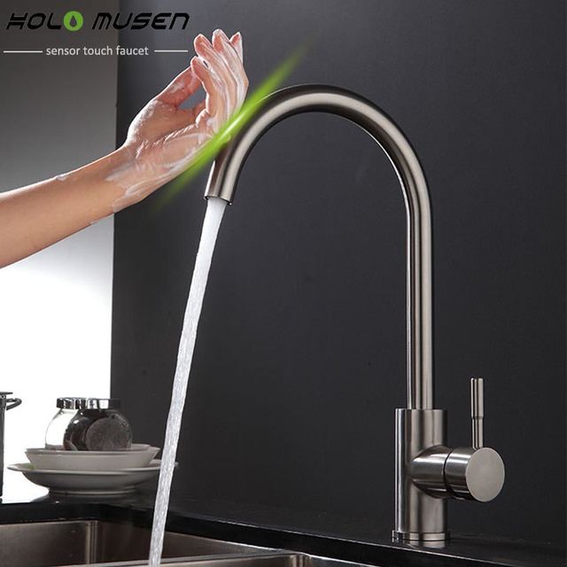 New Arrival Lead Free Sus304 Stainless Steel Touch Faucet Kitchen Control Sensitive Mixer