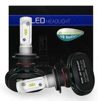 KOOMTOOM 2pcs H7 LED Canbus H1 Lamps LED Car Headlight Bulb H4 LED Hi Lo External
