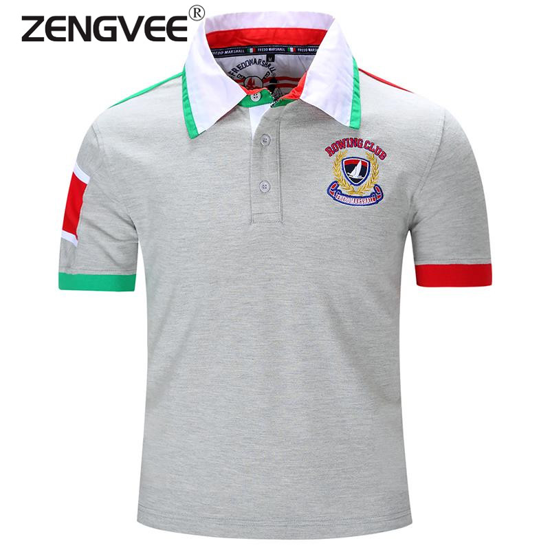 18394de6 New Brand Clothing Short Sleeve Men Polo Shirt Western Style Cotton  Comfortable Breathable Top Europe and America Size