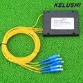 KELUSHI especial NEW 1 Pontos 4 de Telecomunicações De Fibra óptica PLC Divisor Ótico GPON SC Cassete Planar Waveguide dispositivo ramificação