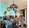 Free Shipping Modern Tiffany Pendant Lighting Lamps Baroque Parlor Chain Dining Room Light Lamp E27 Socket
