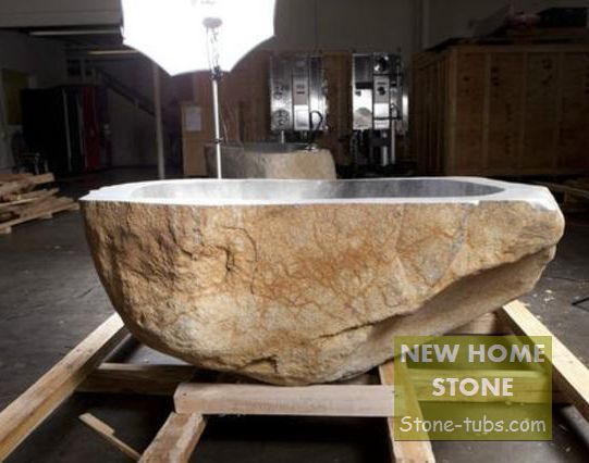 FreeForm Stone Bathtub River Stone Bathtub Appearance of natural ...