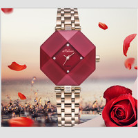 Melissa Brand Women Fashion Dress Jewelry Watches Full Steel Quartz Watch Irregular Geometric Wrist watch Square Analog Montre