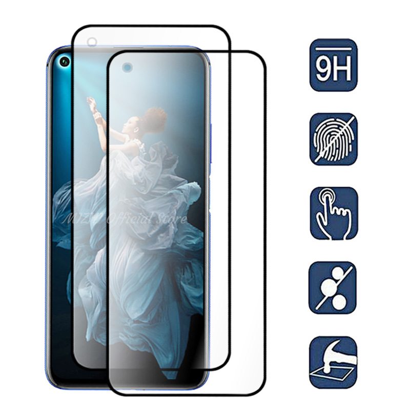 2pcs/lot protective glass for huawei honor 20 Pro honor20 lite glass on honor view20 v20 20i 20lite tremp Safety glasses film-in Phone Screen Protectors from Cellphones & Telecommunications