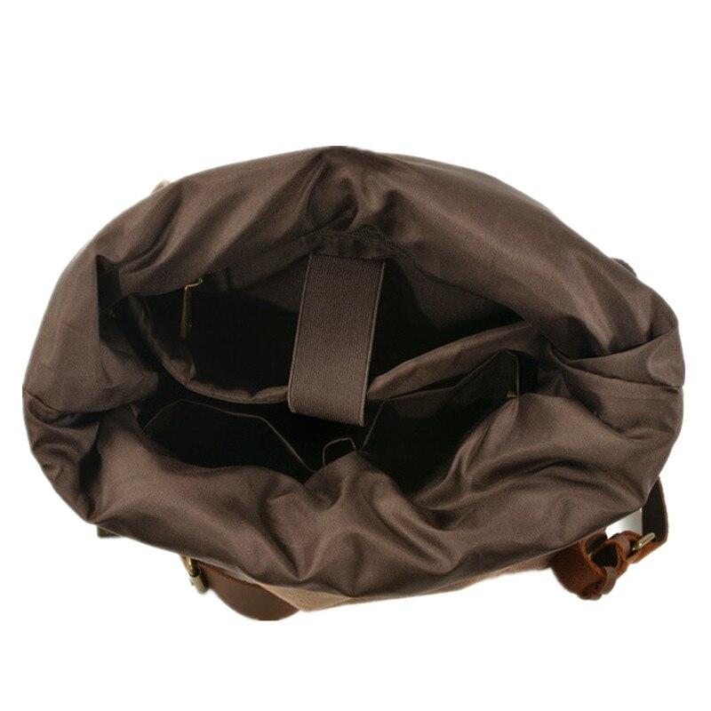 M269 nouveau luxe Vintage toile sacs à dos pour hommes huile cire toile cuir voyage sac à dos grand imperméable Daypacks rétro sac à dos - 6