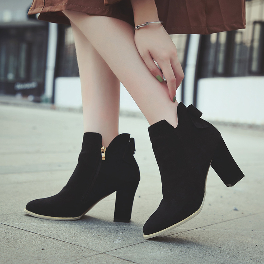 hot products elegant shoes good looking US $10.79 15% OFF|Winter Boots Women Boots Shoes Women Shoes Bottines Femme  2018 Nouveau Botas Mujer Stivali Donna Botte Hiver Femme Buty Damskie-in ...