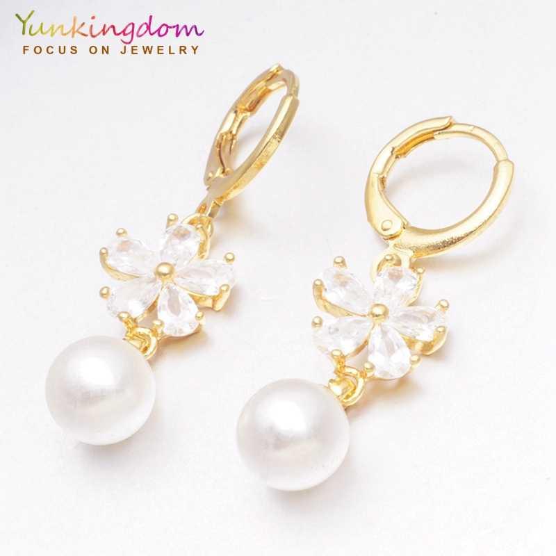 Yunkingdom 30 estilos moda circonita cúbica pendientes geométricos para mujeres y niñas joyería pendiente regalo