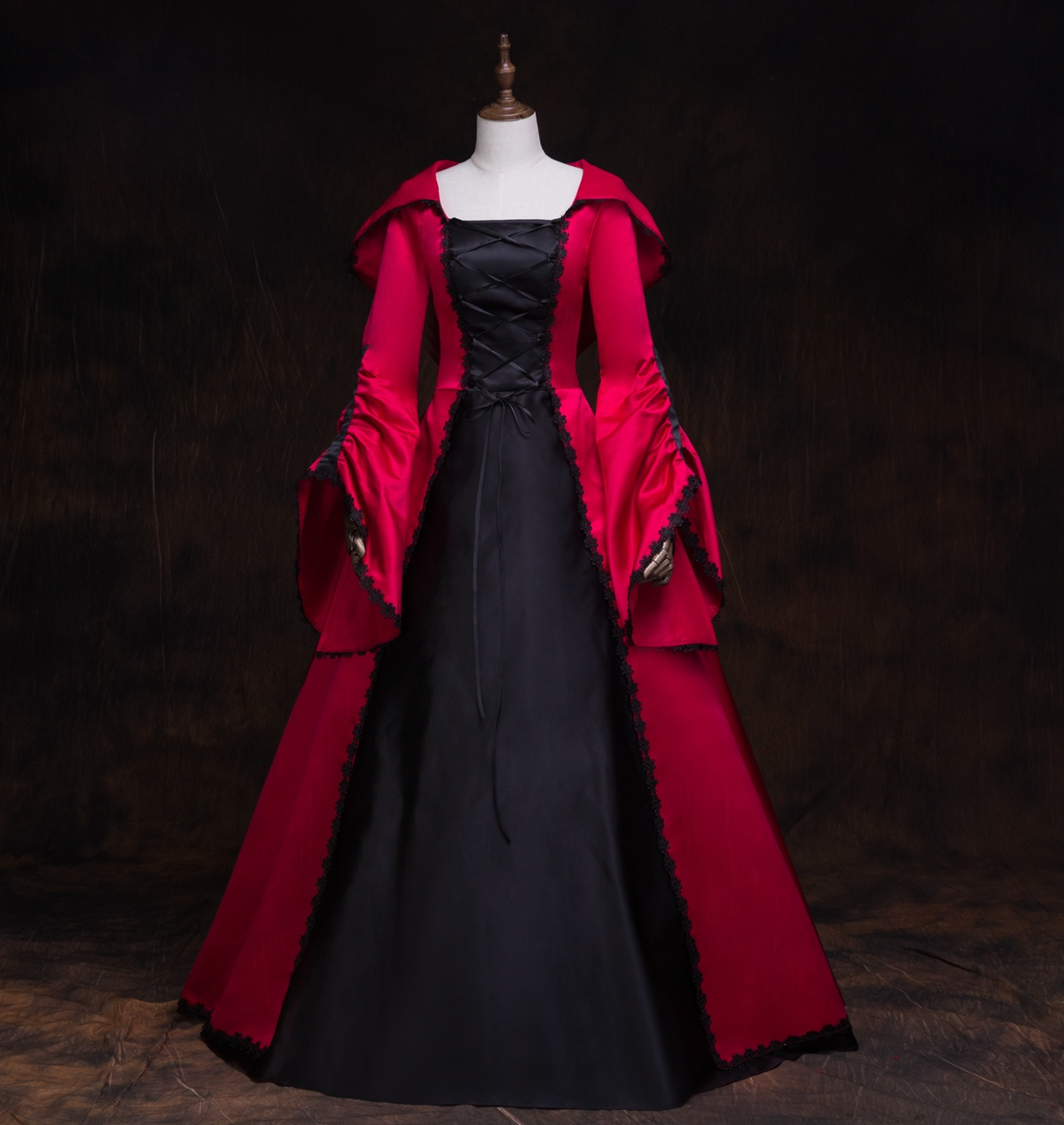 Costumes d'halloween pour femmes costumes de sorcière robe d'halloween robe gothique lolita robe victorienne costumes lolita cosplay vampire - 5