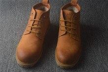 В английском стиле зимние мужские туфли действительно Пига бархат мягкой обуви ботинки «мартенс» SUB3153