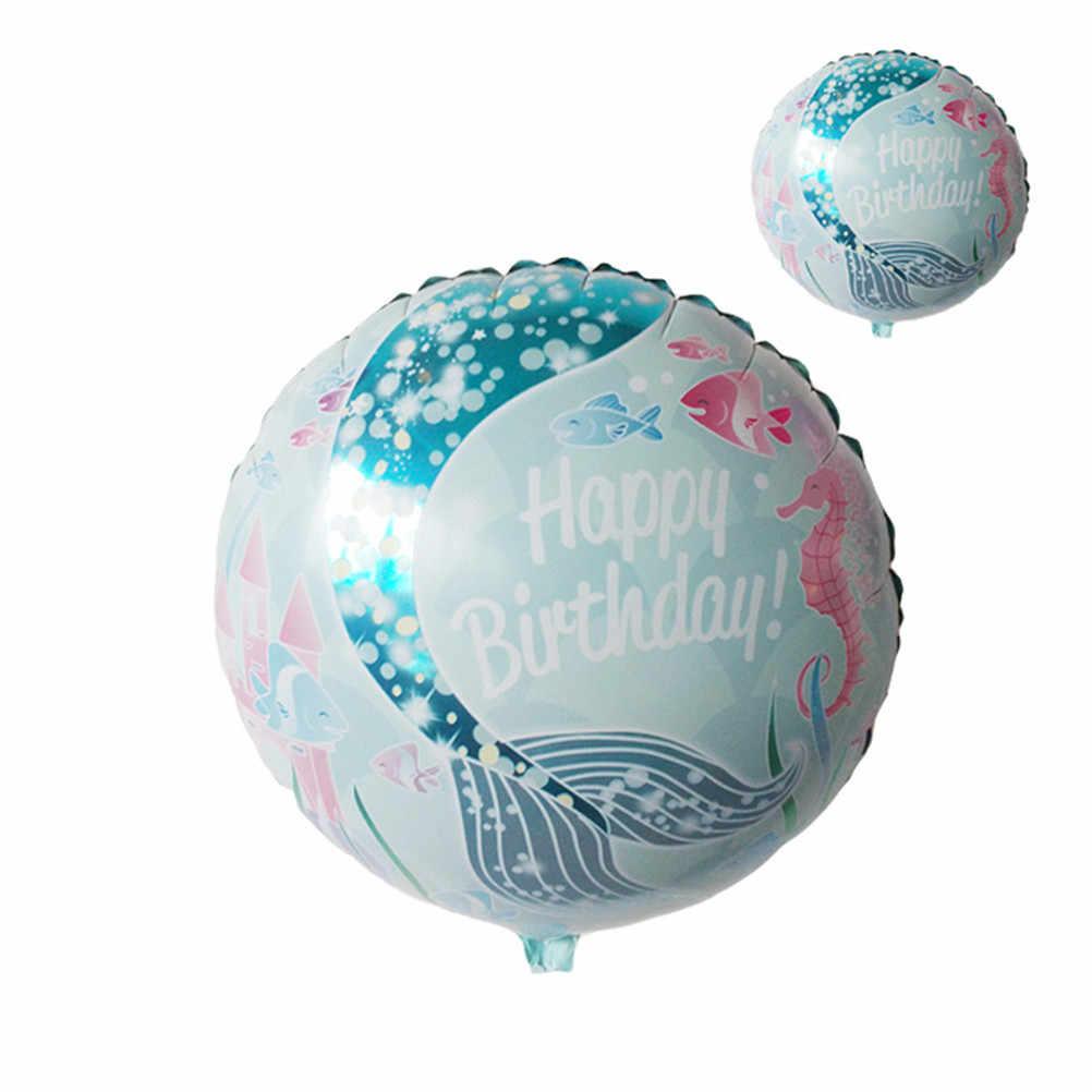 1 PCS Pequena Sereia Balão Decoração Do Partido Suprimentos Festival Presentes Sereia Balões Folha Princesa Balão de Aniversário