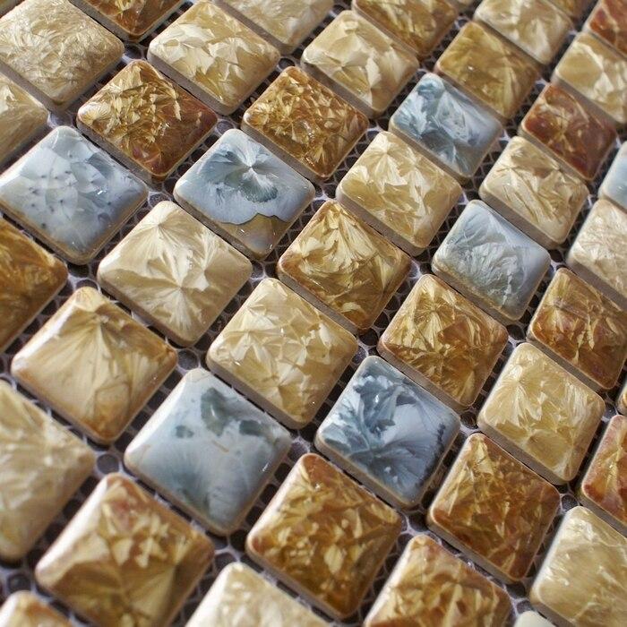 Ceramic porcelain mosaic tile square 12x12  mesh mounting backsplash kitchen  wall tile sticker bathroom floor. Compare Prices on Kitchen Floor Tile Patterns  Online Shopping Buy