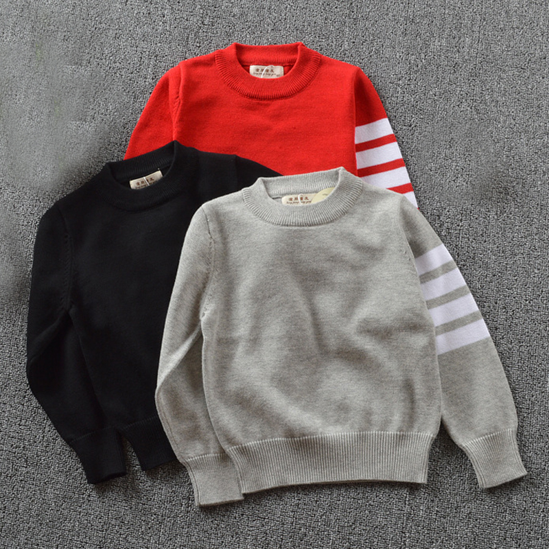 New 2017 Spring Kids Knitted Sweaters 1-5yrs Baby Boy Clothes Infant 100% Cotton Long Sleeve Children Outwear Clothing Red Gary
