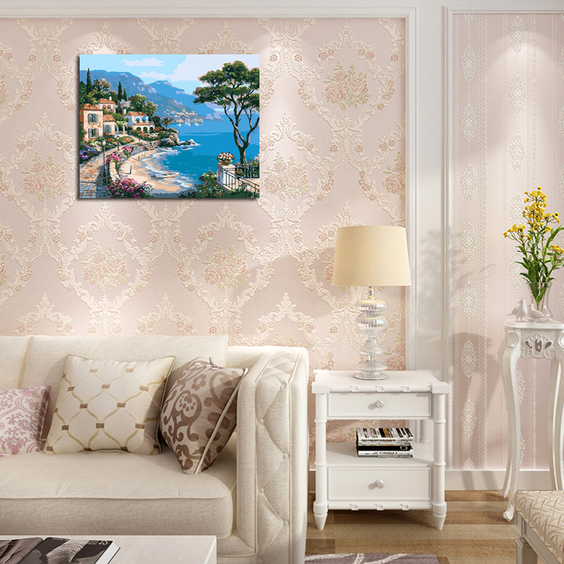 Frameless wall stickers decor diy oil painting by numbers ...