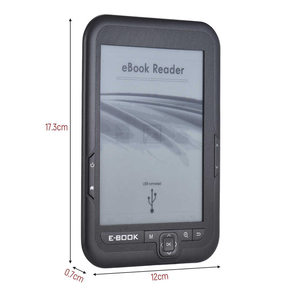 4 gb 6 ''ללא מגע מסך E-קורא e-דיו מסך MP3 נגן עם תור דף כפתורי עור מקרה אוזניות 800x600 ספר אלקטרוני קורא