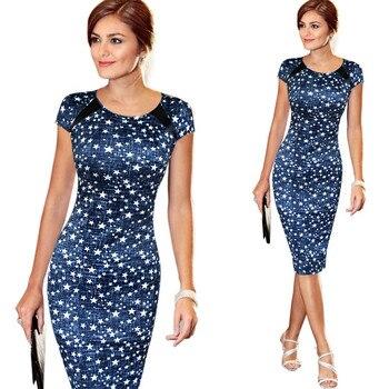 Women Dress Summer Casual Dresses Plus Size Floral Print Sheath Vestidos Verano 2018 short dresses office wear