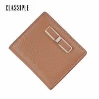 Women Lady Wallet Hot Fashion Genuine Leather Clutch Short Khaki Bow Coin Pocket Card Holders Card Wallet Girl Cute Mini Wallets