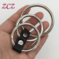 Male Chastity Penis Ring Adjustable 3 Metal Cock Pu Leather Tied Bondage Alternative Toys Fun Adult Sex Products
