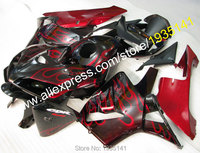 Hot Sales,For Honda F5 CBR600RR Fairing 2005 2006 CBR600f CBR600 600RR Red Flame Motorcycle ABS Fairings Set (Injection molding)