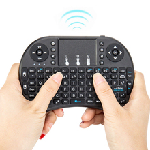 For Android Smart TV Box PC 74 Standard Key + 18 Media Key 2.4G Mini USB Wireless Keyboard Fly Air  Touchpad