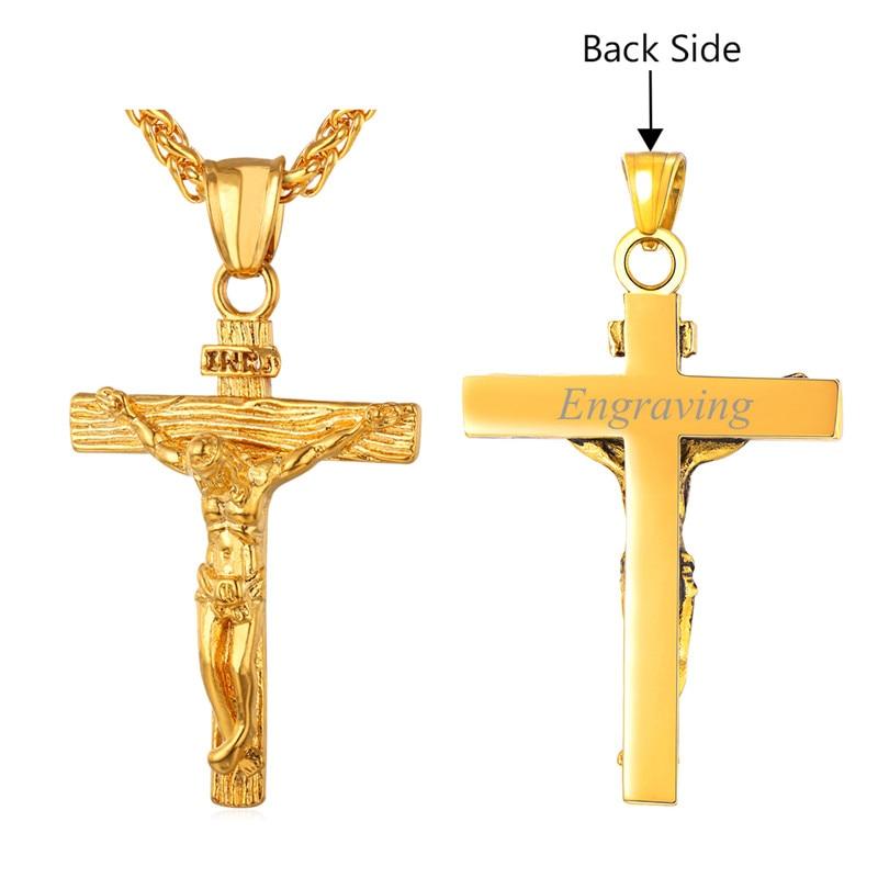 Personalizuar INRI Jesus Piece Crucifix varëse & gjerdan Zinxhir - Bizhuteri të modës - Foto 5