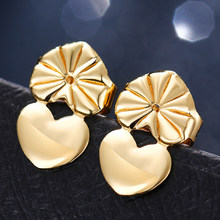 zhenshecai trendy meta pendientes mujer geometric push-back brincos fashion jewelry earrings for women Girl Gift Stud Earrings(China)