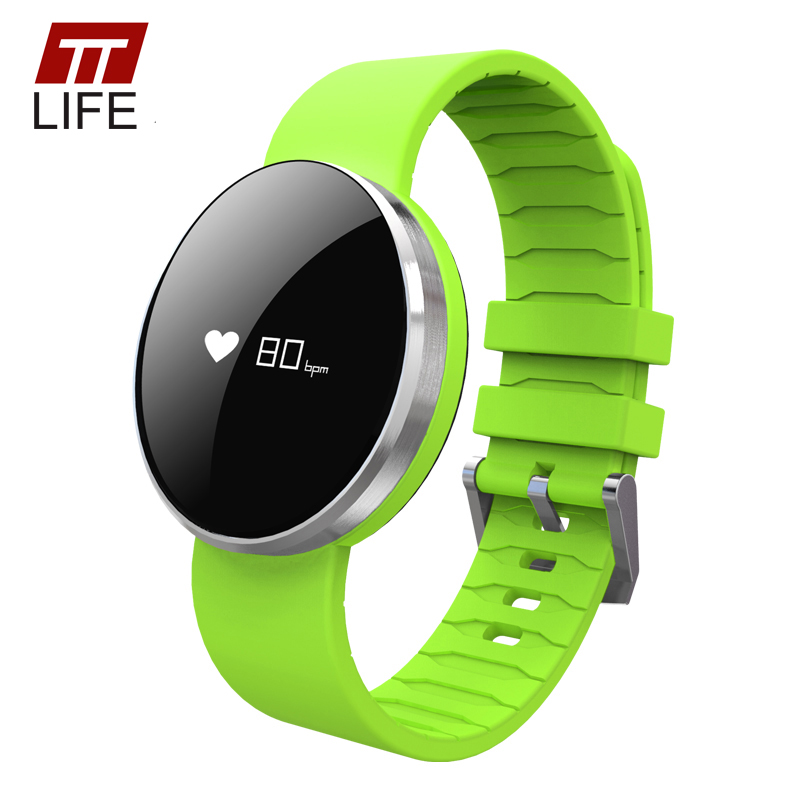 TTLIFE Lovers' Heart Rate Monitor Bluetooth Smart Watch Sleep Monitor Pedometer Call Reminder Sports Wristband for Android IOS