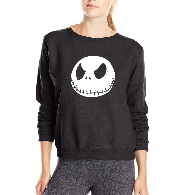 women sweatshirts Jack Skellington Smile face brand tracksuit Sudaderads pullovers harajuku 2017 spring new funny kpop hoodies