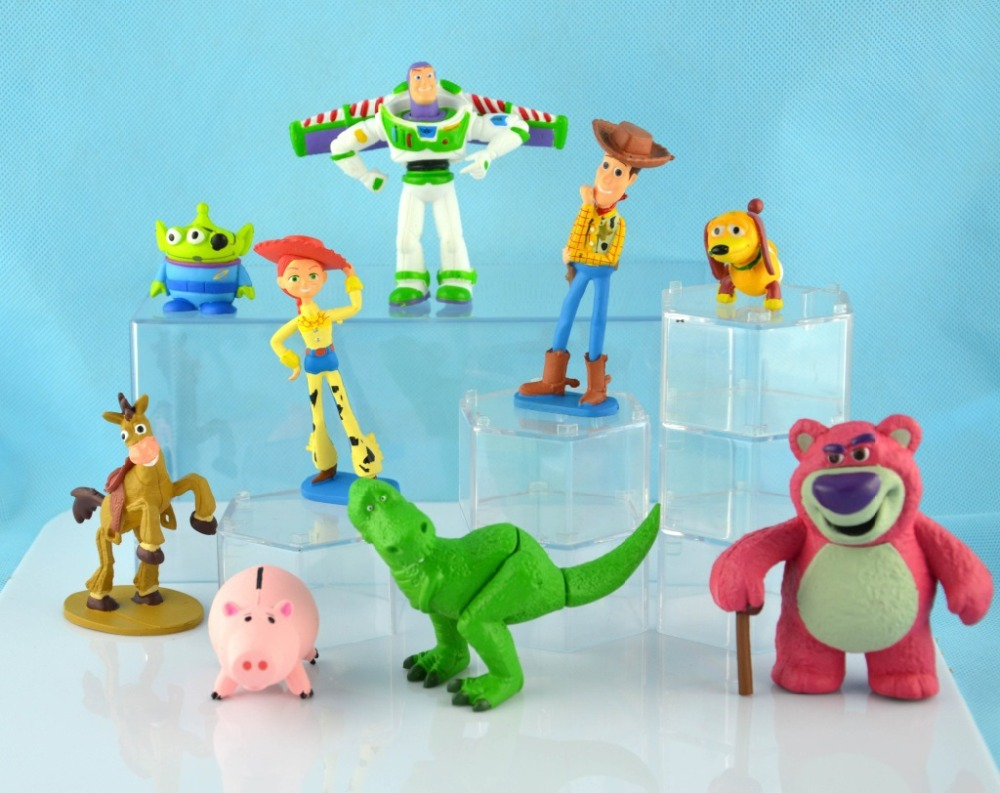 A christmas story ornament set - New 9pcs Set Toy Story 3 Buzz Lighter Woody Jessie Action Figures Pvc Action Figure