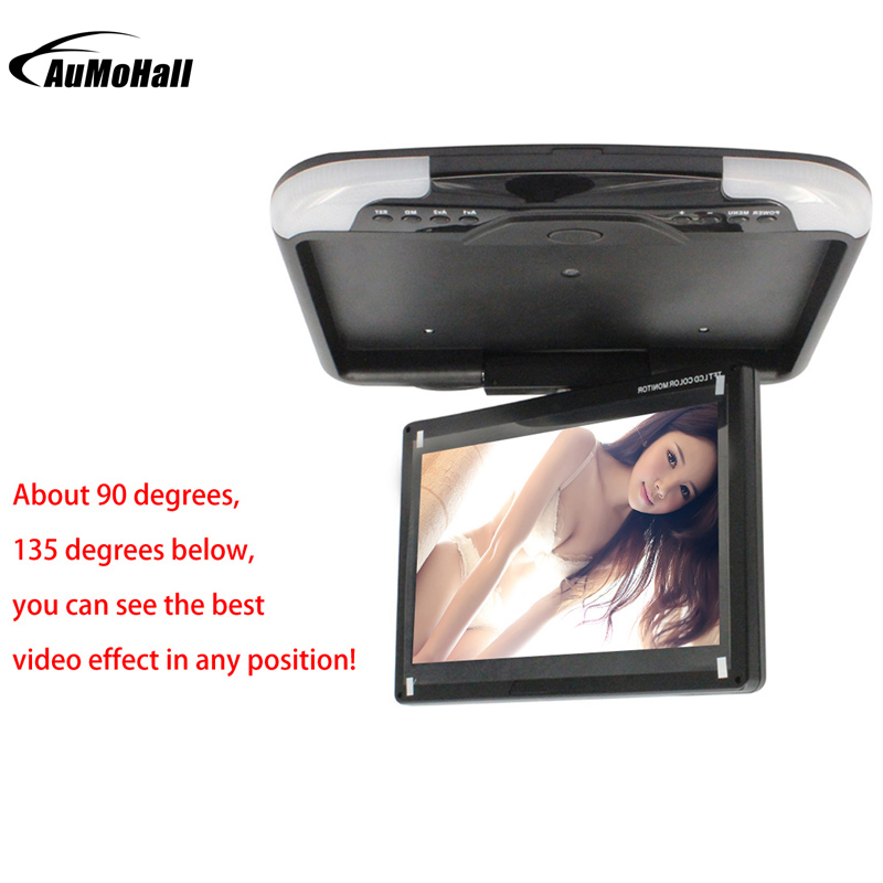"13 ""inches Auto Monitor LED Digitaal Scherm Auto Dak Gemonteerde Monitor Auto Plafond Monitor, Flip Down Monitor"