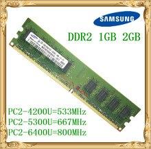 S amsungสก์ท็อปหน่วยความจำ1กิกะไบต์2กิกะไบต์4กิกะไบต์DDR2 533 667 800เมกะเฮิร์ตซ์PC2-5300 6400UพีซีRAM 800 6400 2กรัม240-pin