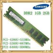 Samsung memória ram, memória de desktop 1gb 2gb 4gb ddr2 533 667 800mhz PC2-5300 6400u pc ram 800 6400 2g 240-pin