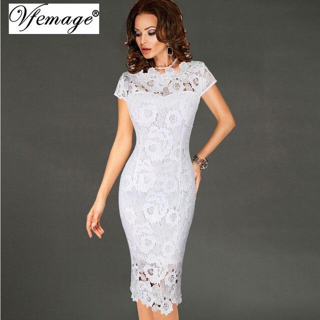 Vfemage женские элегантные пикантные крючком выдалбливают Pinup вечеринок вечер Специальный Оболочка Встроенная Vestidos платье 4272