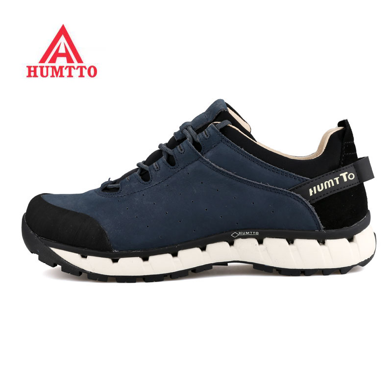 HUMTTO Mens Genuine Leather Outdoor Trekking Hiking Sneakers Shoes For Men Sports Climbing Mountain Shoes Man Sneakers