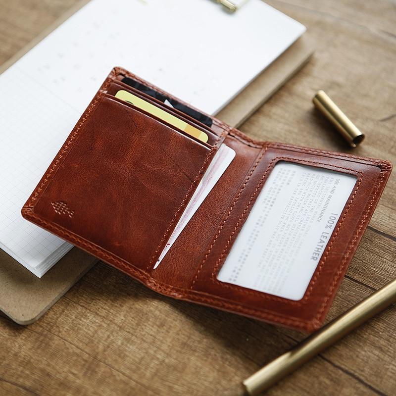 LANSPACE Läder korthållare små kort id hållare mode myntpåsar - Plånböcker - Foto 3