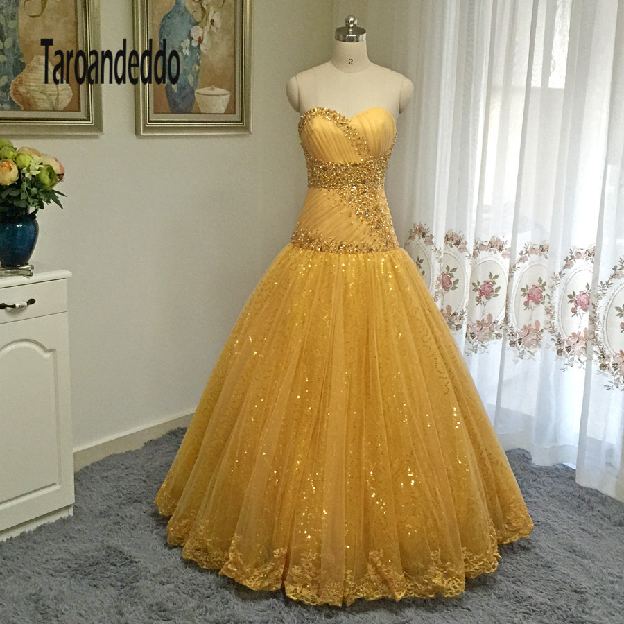 Popular Gold Ball Dress-Buy Cheap Gold Ball Dress lots from China ...