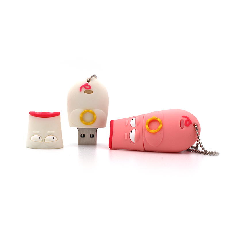 Popular Cartoon Pink Crown Pig Pen Drive Personalizado Usb Flash Drive 64GB Real Capacity Memory Stick Pendrive 4GB 8GB 16G 32GB