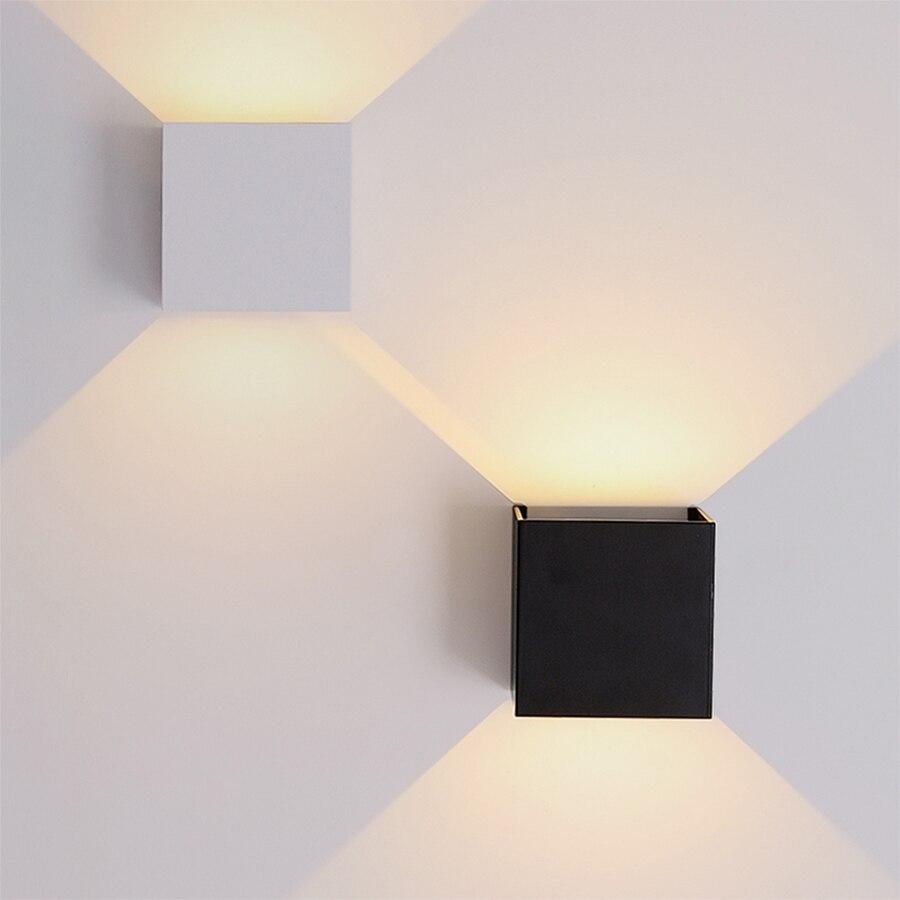 IP65 Wasserdicht 6W 12W Outdoor Led Wand Lampe moderne Aluminium Einstellbare Oberfläche Montiert Cube Led Garten Veranda Licht wand Lampen