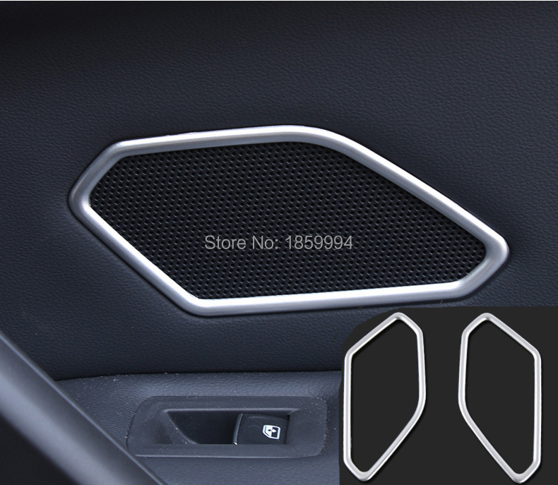 pentru 2017 2018 2019 VW Tiguan mk2 CHROME INTERIOR INTERIOR REAR UP DOOR SPEAKER COLLAR COVER TRIM SURROUND BEZEL RING MATTE