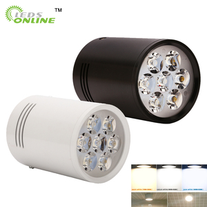Image 2 - 3W 5W 7W 12Wพื้นผิวดาวน์ไลท์LEDโคมไฟเพดานไฟสีขาวสีดำสำหรับห้องนั่งเล่นห้องครัวห้องน้ำไฟ